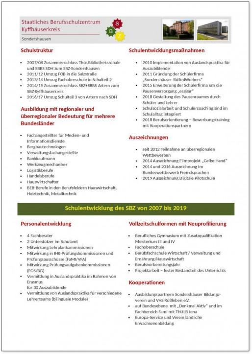 Schulentwicklung SBZ Kyffhaeuserkreis 2007 2019